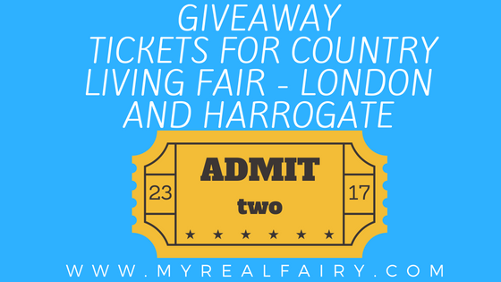 Giveaway Tickets For Country Living Magazine Fair   London And Harrogate    Myrealfairy.com