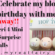 Birthday Celebration Giveaway Part 1